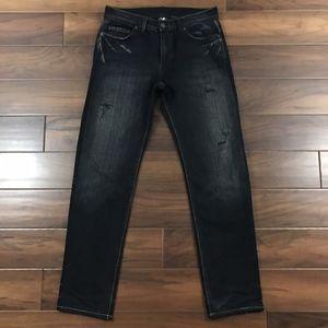 Armani Exchange AX Distressed Denim Jeans